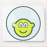 Buddy icon living in a bubble   mousepad