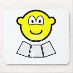 Face sun reflector buddy icon   mousepad
