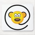 Web monkey emoticon   mousepad