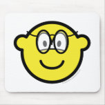Buddy icon with glasses   mousepad