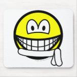 White belt smile   mousepad