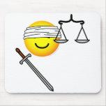 Justice emoticon   mousepad