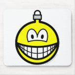 Christmas ball smile   mousepad