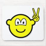 Peace hand buddy icon   mousepad