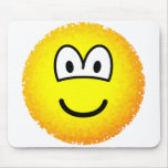 Fuzzy emoticon or emoticon after accidentally falling into the washing-machine  mousepad