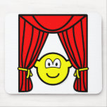 Theater buddy icon stage curtains open  mousepad
