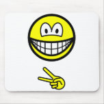 Scissors smile rock - paper - scissors  mousepad
