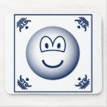 Delft blue emoticon   mousepad