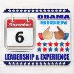 Mousepad2-ObamaBiden 2012- Leadership & Experience Mouse Pad