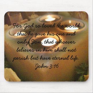 Mousepad 16 de Juan 3 del verso de la biblia