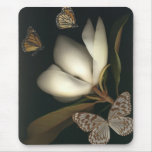 mousepad 1 de la magnolia y de las mariposas tapete de ratón