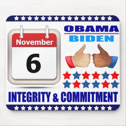 Mousepad 2-ObamaBiden 2012- Integrity & Commitment
