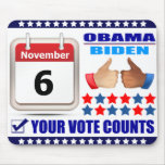 Mousepad 2- ObamaBiden 2012 - Your Vote Counts