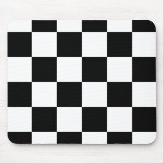 Mousepad a cuadros blanco y negro