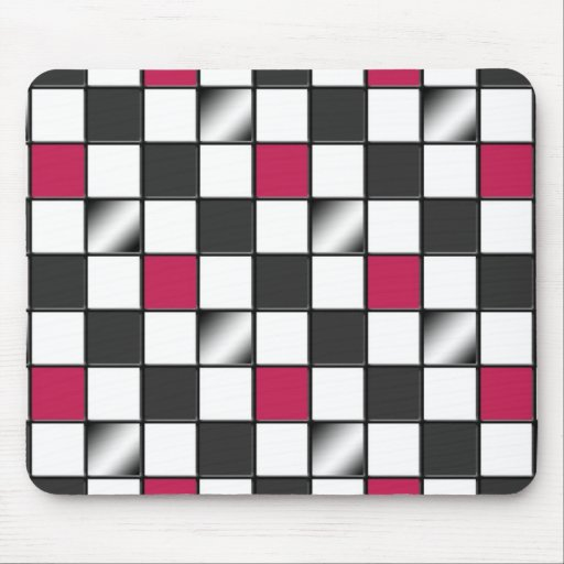 Mousepad a cuadros rosado alternativo