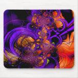 Mousepad Abstract Metal Purple Orange Crochet 2