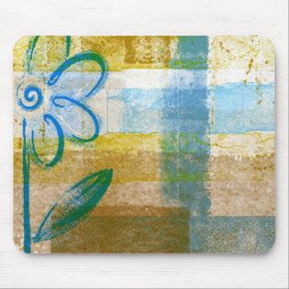 Mousepad abstracto artsy enrrollado del color azul tapete de ratón