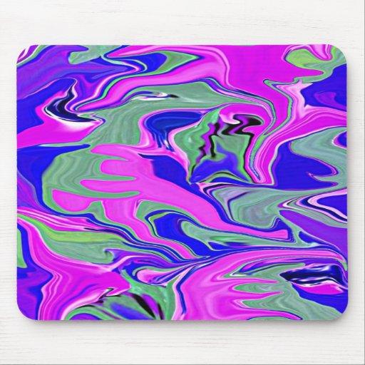 mousepad abstracto azul del diseñador del fuschia