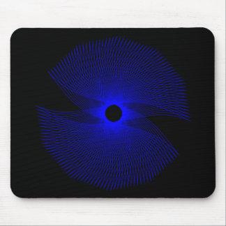 Mousepad abstracto azul y negro tapetes de ratón