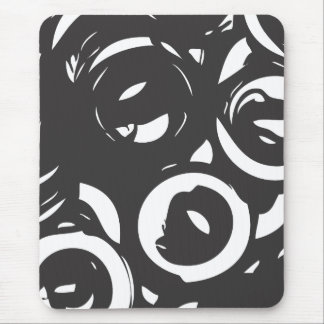Mousepad abstracto blanco negro