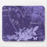 Mousepad abstracto púrpura y violeta del corazón alfombrilla de raton
