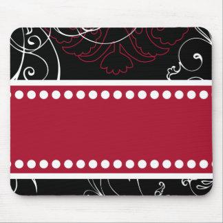 Mousepad adaptable moderno negro y rojo
