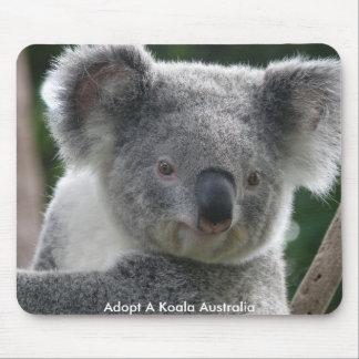 Mousepad adopta una koala Australia Tapete De Ratón