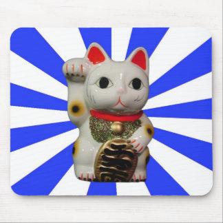 Mousepad afortunado japonés del azul del gato MANE Alfombrilla De Ratón