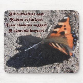 Mousepad All Butterflies Rest Poem By Ladee Basset