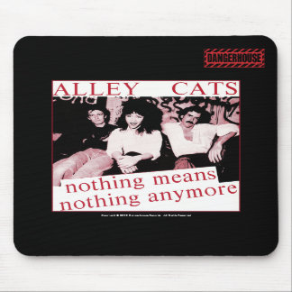 Mousepad Alleycats Nothing (Red) Dangerhouse BLACK