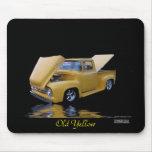 Mousepad amarillo viejo alfombrilla de ratón