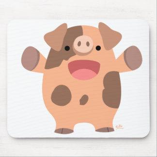 Mousepad amistoso del cerdo del dibujo animado alfombrillas de ratón