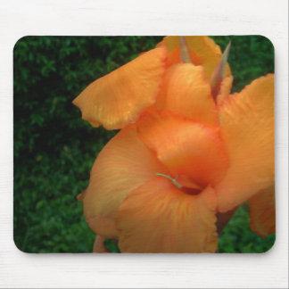 Mousepad anaranjado de la flor alfombrilla de ratones