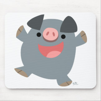 Mousepad animoso del cerdo del dibujo animado tapete de raton