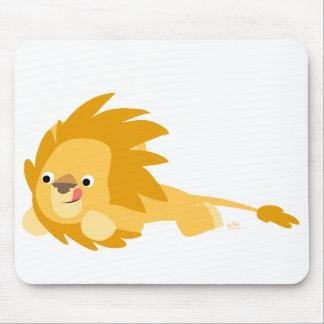 Mousepad animoso del león del dibujo animado