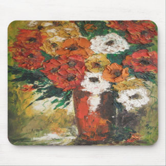 Mousepad Ann Hayes Painting Red Flowers Mixed