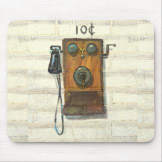mousepad antiguo del teléfono de la pared