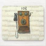 mousepad antiguo del teléfono de la pared tapetes de ratón