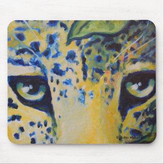 Mousepad - arte salvaje del gato de leopardo del g tapete de ratones