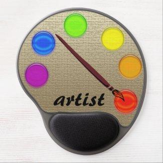Mousepad - Artist pallet Gel Mouse Pads