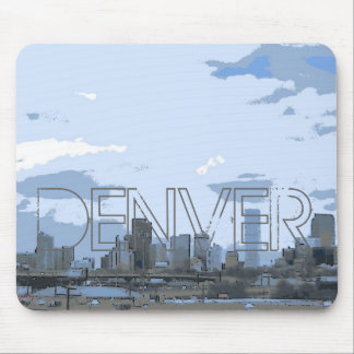 Mousepad artístico del horizonte de Denver Colorad