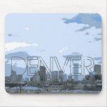 Mousepad artístico del horizonte de Denver Colorad Tapete De Raton