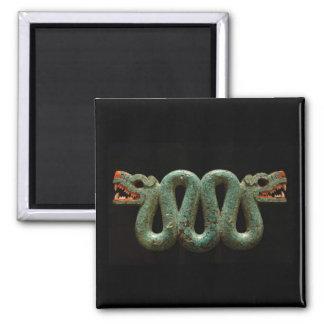 Mousepad: Aztec serpent 2 Inch Square Magnet