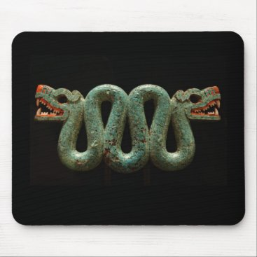 Aztec Themed Mousepad: Aztec serpent Mouse Pad