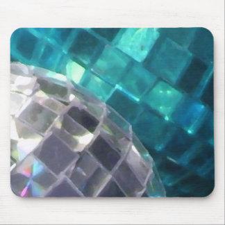 Mousepad azul de la bola de espejo de las chucherí tapetes de raton