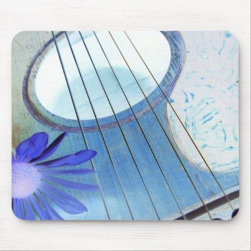 mousepad azul de la guitarra