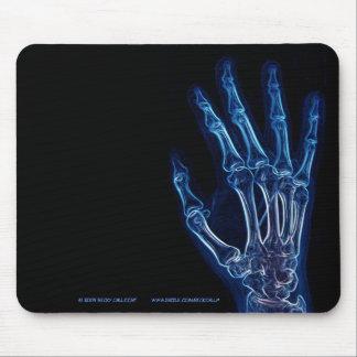Mousepad azul de la radiografía de la mano