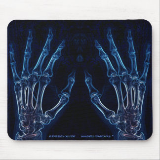 Mousepad azul de la radiografía de las manos (vers