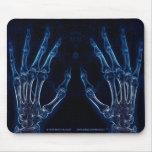 Mousepad azul de la radiografía de las manos (vers alfombrilla de raton