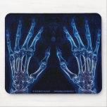 Mousepad azul de la radiografía de las manos (vers alfombrillas de raton